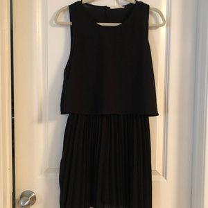 Elodie Black Pleated Dress